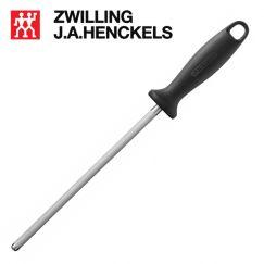 Liếc dao bằng thép thương hiệu Zwilling 32576-231 cán đen, lưỡi dài 23cm