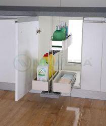 Giá đựng nước rửa chén NewEra giảm chấn inox hộp 304, rộng 350mm