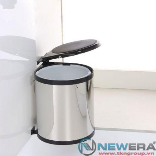 Thùng rác đơn inox NewEra 14 lít gắn cánh khoang tủ 300mm