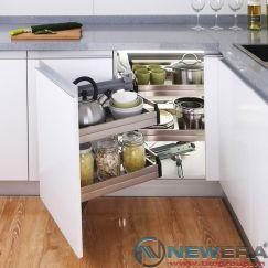 Kệ góc xoay liên hoàn NewEra dùng cho tủ góc