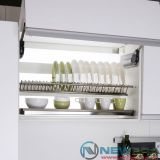 Giá treo úp bát đĩa NewEra inox 2 tầng tủ trên rộng 800mm