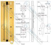 Thanh chống cong cánh tủ bếp, tủ áo NE026X1
