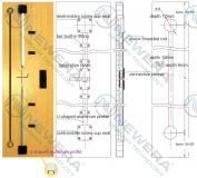 Thanh chống cong cánh tủ bếp, tủ áo NE027X1