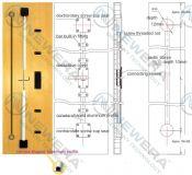 Thanh chống cong cánh tủ bếp, tủ áo NE027X2