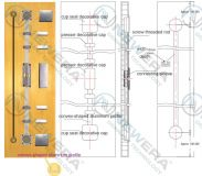 Thanh chống cong cánh tủ bếp, tủ áo NE027A1