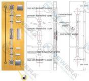 Thanh chống cong cánh tủ bếp, tủ áo NE027A2