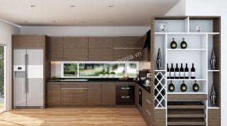 Ấn tượng nhà bếp tươi mới với phong cách nội thất hiện đại