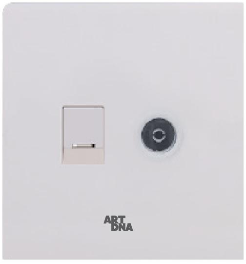 Ổ cắm mạng +Tivi A38