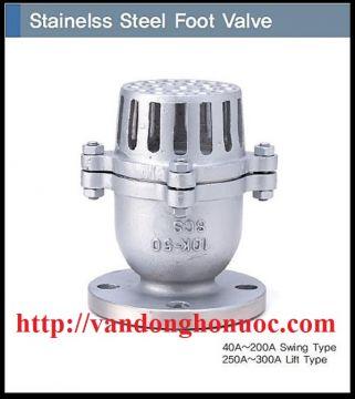 Van LUPPE/ Van đáy/ Rọ bơm INOX 304, mặt bích DN 50 => DN 300