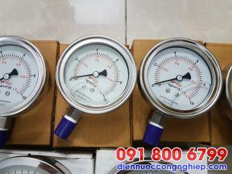 Đồng hồ áp suất dầu mặt D150mm
