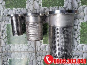 Luppe inox 304, foot valve, rọ bơm inox DN50, DN65, DN80, DN100, DN150, DN200