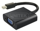 Cáp MiniDisplayport -> VGA 0.2m Unitek (Y 6327BK) (F)