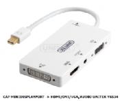 Cáp MiniDisplayport -> VGA/DVI/HDMI/Audio Unitek Y6534