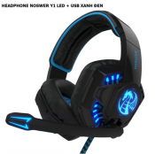 Heaphone Noswer Y1 Led+Usb Xanh Đen