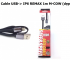Cáp USB to IP6 Remax 1m M-Cow (dẹp)