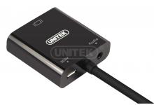Cáp HDMI to VGA Unitek Y-6333 có Audio Chính hãng