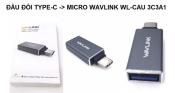 Đầu đổi Type C ra Micro Wavlink WL-CAU 3C3A1