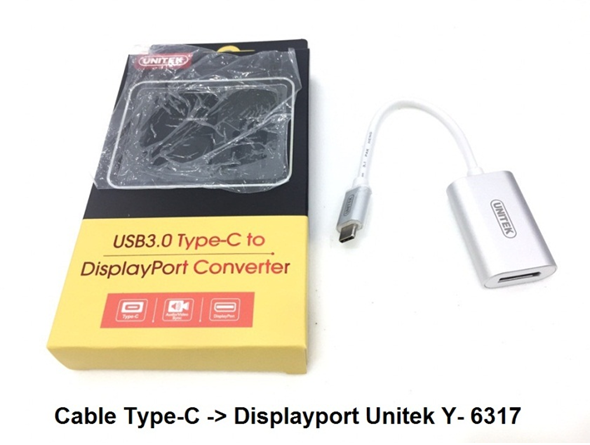 Cáp Type C to Displayport Unitek Y-6317