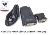 Cáp USB đổi DVI,VGA Unitek Y3801 (3.0)
