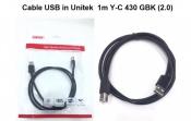Cáp USB in Unitek 1m Y-C430GBK
