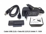 Cáp USB (3.0) to Sata 6G 2.5 3.5 Unitek Y1039