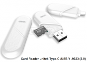 Card Reader Unitek Type-C + USB Y-9323 (3.0)