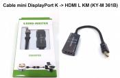 Cáp Mini DisplayPortK to HDMI L KM (KY-M 361B)