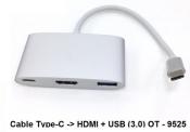 Cáp Type C to HDMI + USB (3.0) PT - 9525