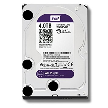 Western Digital Caviar Purple - 4TB - IntelliPower - 64MB cache - Sata 6 Gb/s (WD40PURX)