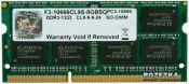 Bộ nhớ laptop DDR3 G.Skill 2GB (1333) F3-10666CL9S-2GBSQ