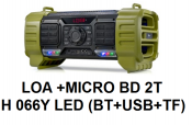 Loa + Micro BD 2TH 066Y Led(BT+USB+TF)
