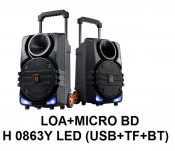 Loa + Micro BDH 0863Y Led (Usb+TF+BT)