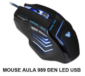 Mouse AULA 989 Đen Led USB