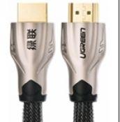 10152 Cáp HDMI UGREEN HD102 kết nối kim loại nylon braid 1.4 V đồng đầy đủ 19 + 1 0.5M