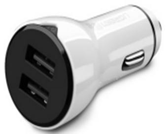 ABS Case Dual USB Car Charger 2.4A+2.4A Ugreen CD163(40725)