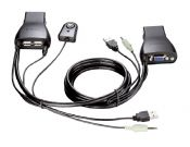 2-Port USB KVM Switch with Audio Support