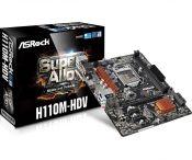 Mainboard ASRock H110M-HDV R3.0 2-DIMM*DDR4-2133 Socket 1151 (m-ATX)