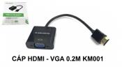 Cáp HDMI - VGA 0.2M KM001