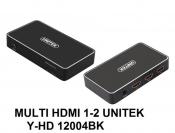 Multi HDMI 1-2 Unitek Y-HD 12004BK