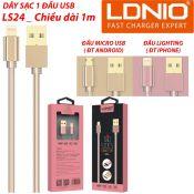 Dây sạc 1Đầu USB LS24 1m