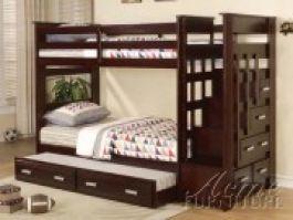 Giường tầng trẻ em Acme Furniture (màu nâu) xuất