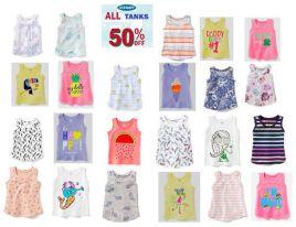sp000218-380 áo vỉ ba lổ oldnavy bé gái 1 lốc 5c /1 size , màu tươi sáng chất đẹp ri 5 lốc