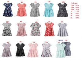 sp000494-144-Đầm Jumping Bean/ Carters , size 12m đến 5t, chất thun cotton đẹp, hàng mới 2018. ri 20