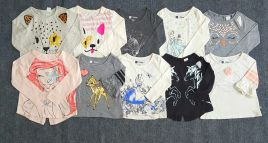sp000382- Áo Gap Bé gái Made in Cambodia size 12M-5, thun cotton mịn đẹp.  Tông màu Âu Mỹ dễ phối áo khoác và quần.ri 15