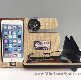 Gác điện thoại gỗ để bàn 01