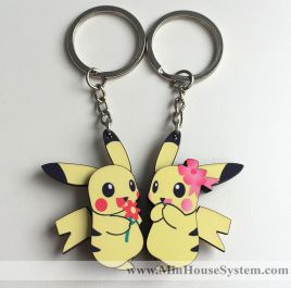 Móc khóa gỗ Pikachu K032