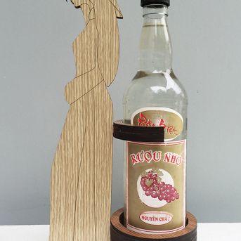 Gác chai rượu gỗ 02