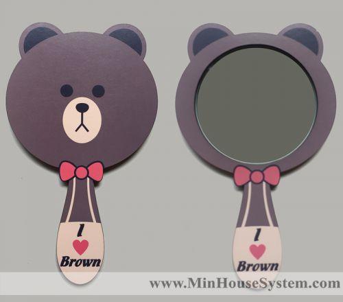 Gương Gỗ Gấu Brown