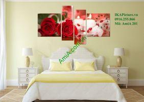 Top 10 tranh hoa hồng trang trí phòng ngủ vợ chồng lãng mạn