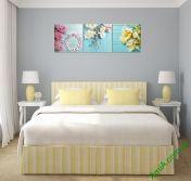 Tranh treo phòng ngủ đẹp và lãng mạn, có đồng hồ AmiA 282